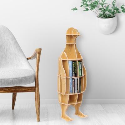 DIY 펭귄 동물모형 선반 책장 인테리어 소품진열선반