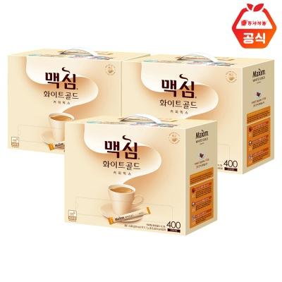 맥심 화이트골드 400T 3개 / 대용량 커피믹스