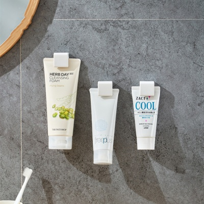 [ABC생활] 강력접착 클립형 욕실 멀티 치약 수건걸이