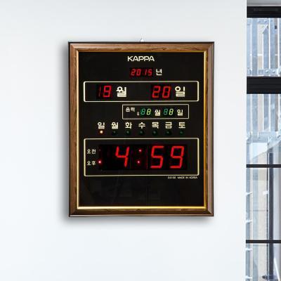 카파 D3100 달력/요일표시 디지털벽시계