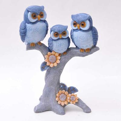 Owl family 블루 패턴 장식인형 CH1544876