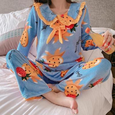 애플파인 수면잠옷 여성 극세사 수면 바지 잠옷세트