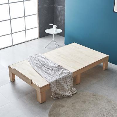 미송 원목 평상형 침대 SS (노헤드) H220