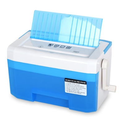 [현대오피스] 탁상형 수동 문서세단기 PK-46L Blue