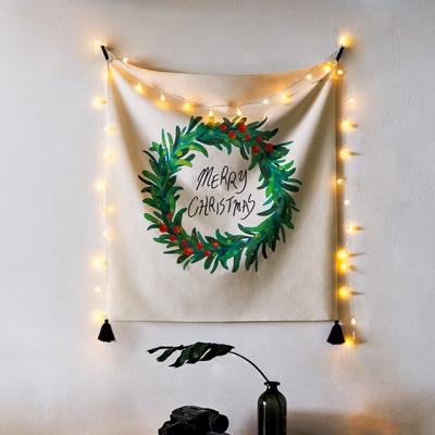 크리스마스 일러스트 패브릭 포스터