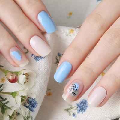 [글로시블라썸] 젤네일스티커 드로잉 블루