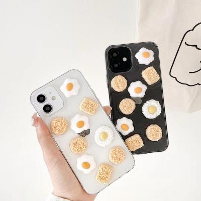아이폰12 11 pro max xs 8 계란후라이 투명 폰 케이스