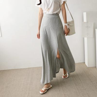 Slit A-Line Long Skirt