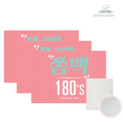 [코튼클라우드나인]쏨팩 화장솜 180매x3개