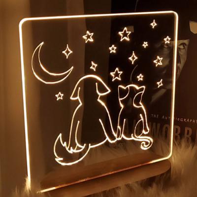 pl456-LED사인무드등_강아지와고양이의우정
