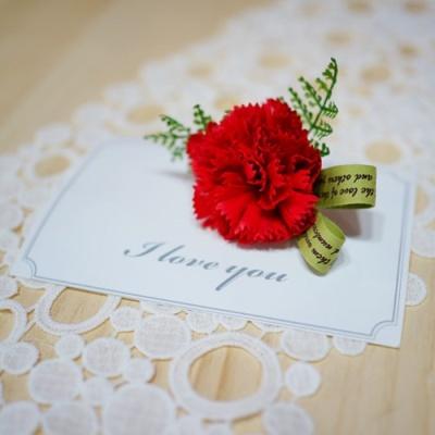 비누 카네이션 코사지(브로치) 카드