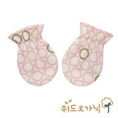 [위드오가닉] 오가닉신생아손싸개 무당벌레핑크