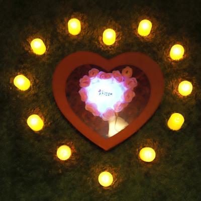 비누장미(소)+LED촛불 조명세트