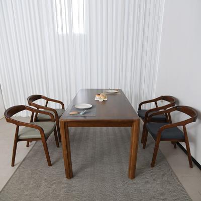 키츠 고무나무 원목 4인 의자형 식탁세트