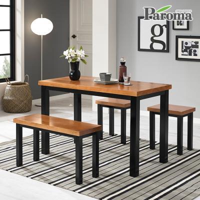 파로마 브런치 원목 4인 식탁 세트 HS033