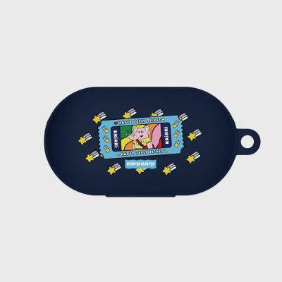 kkikki happy ticket-navy(buds jelly case)