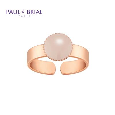 폴브리알 PYBR0105 (PG) 서클 밴드 반지 BEIGE