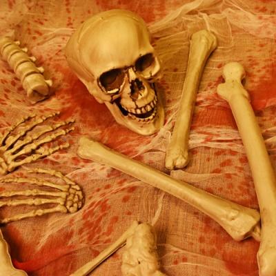 해골 뼈무덤 [플라스틱]