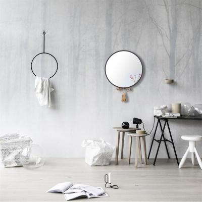 우드 모던 테슬 인테리어 벽장식 거울 300