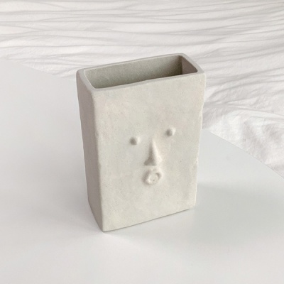 Square Face 오브제 아트 화병