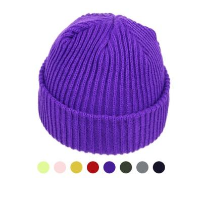 [디꾸보]니트 숏 비니 남녀공용 모자 ET748