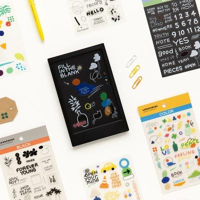 라이프앤피시스 스티커 컬렉션 (6장) - 투명