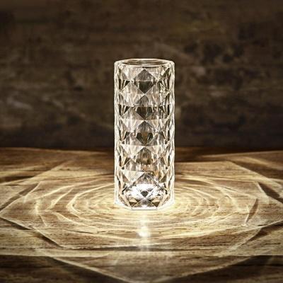 충전식 3색 아크릴 무드등 다이아몬드 램프 스탠드LED