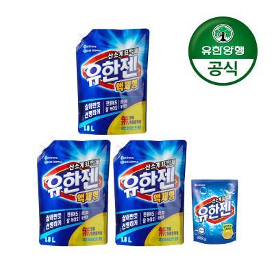 [유한양행]유한젠 표백제 1.8L x 3개+200g