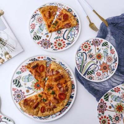 온나 세라믹 플라워 디저트 접시 그릇(중형)