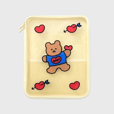 Bear heart-ivory(PVC 파우치)