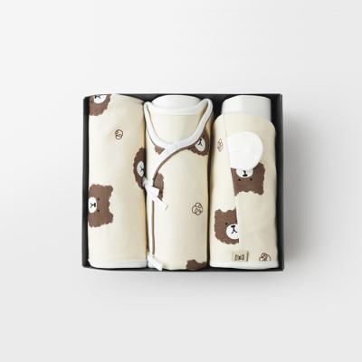 메르베 파마했곰 출산세트(저고리+속싸개+모자)겨울용