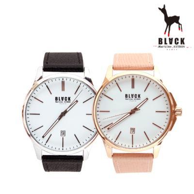 [블랙마틴싯봉] 남여공용 가죽 손목시계 BKL1656M