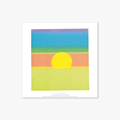 현대작가 포스터 갤러리 액자 142 Andy Warhol Sunset one plate