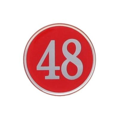 번호판48 에폭시 빨강 4842 지름48 1개입