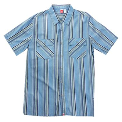 [eS] CHESTER BUTTON-UP S/S SHIRTS (Blue)
