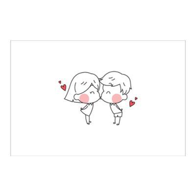 왈가닥스 러블리 포스트카드 엽서 - chu