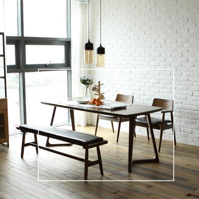 치토 고무나무 원목 6인 식탁 테이블 1800