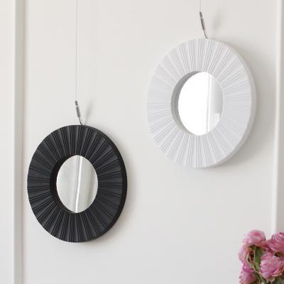 블랙앤화이트 미니 원형 거울- 2type 2color