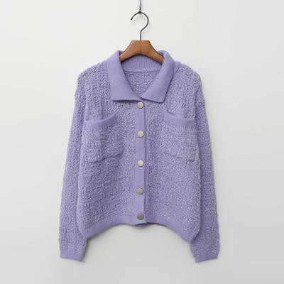Tweed Pastel Knit Cardigan