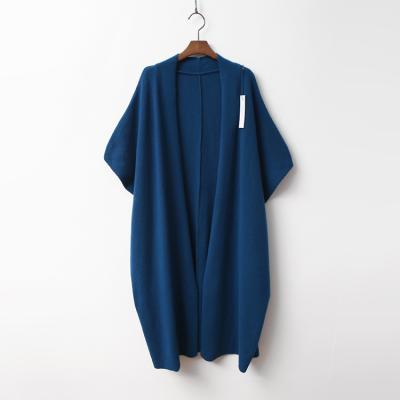 Merino Wool Shawl Long Cardigan