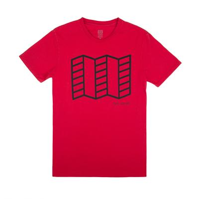 토포디자인 MAP TEE RED TDMMTF016