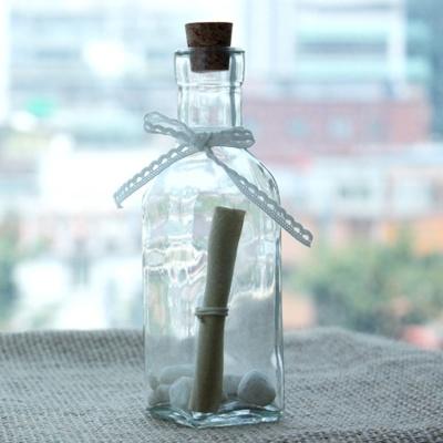 미니 칼라 유리병 투명 엔틱 카페 원룸 홈데코 장식용
