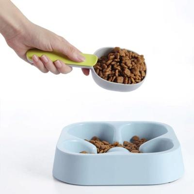 강아지 사료 급식 정량 밀봉 집게 스푼 DD 10606