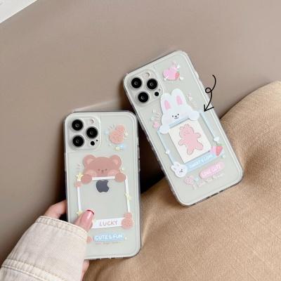 아이폰 12 11 미니 pro max 곰돌이 투명 젤리 케이스