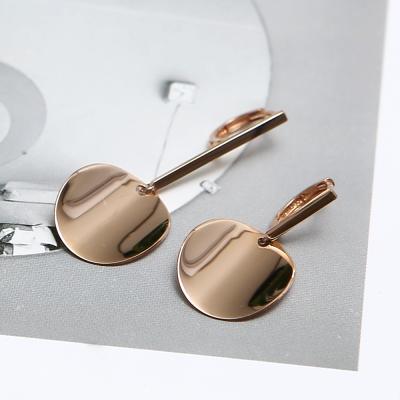 14K 스틱 언발 서클 원터치 귀걸이