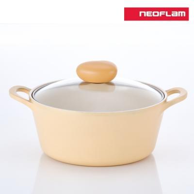 네오플램 플랑 IH 인덕션 냄비 양수 22cm