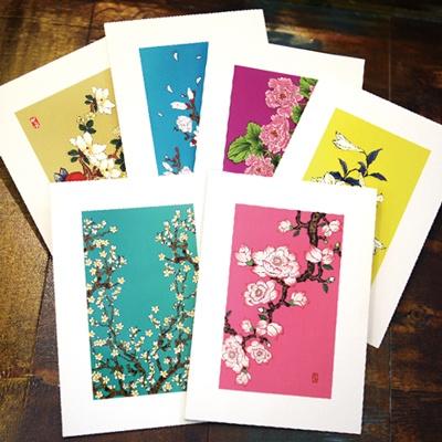 카드/축하카드/감사카드/연하장 꽃 피우다 FT214 (6종 한세트)