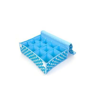 키친아트 속옷정리함 땡땡이 블루(덮개12칸)