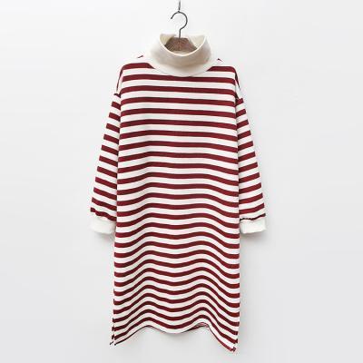 Gimo Stripe Turtle Dress  - 기모안감
