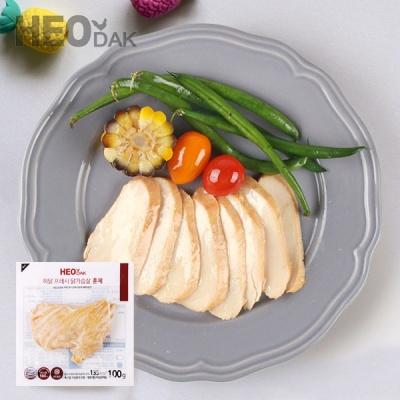 [허닭] 프레시 슬라이스 닭가슴살 훈제맛 100g 1+1